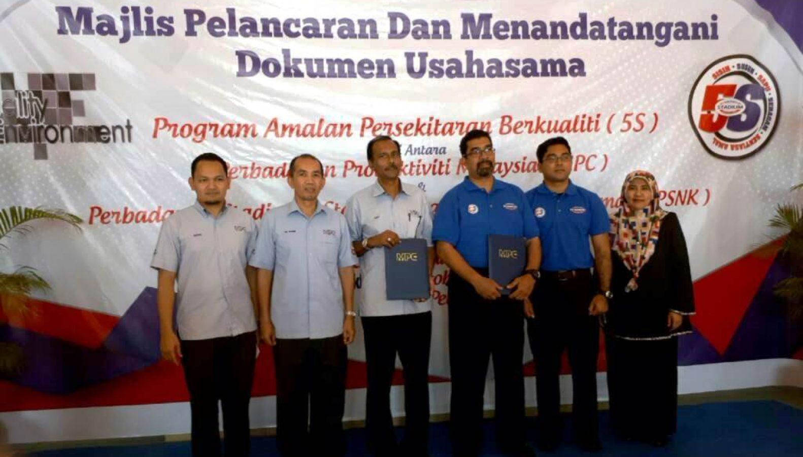 Majlis Pelancaran Dan Menandatangani Dokumen Usahasama Program Amalan Persekitaran Berkualiti (5S)